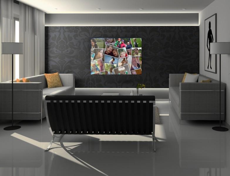 תמונות קולאז' משפחתיות על קנבס | חיוכים - הדפסות קנבס וזכוכית