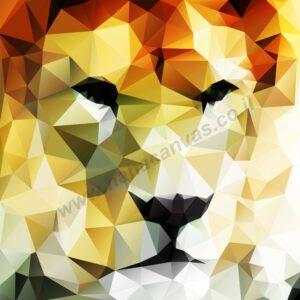 תמונה של אריה, תמונה חדשה לחדר על קנבס - חיוכים