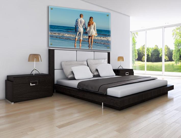 הדפסות על זכוכית לחדר השינה | חיוכים - הדפסות קנבס ומגנטים לאירועים