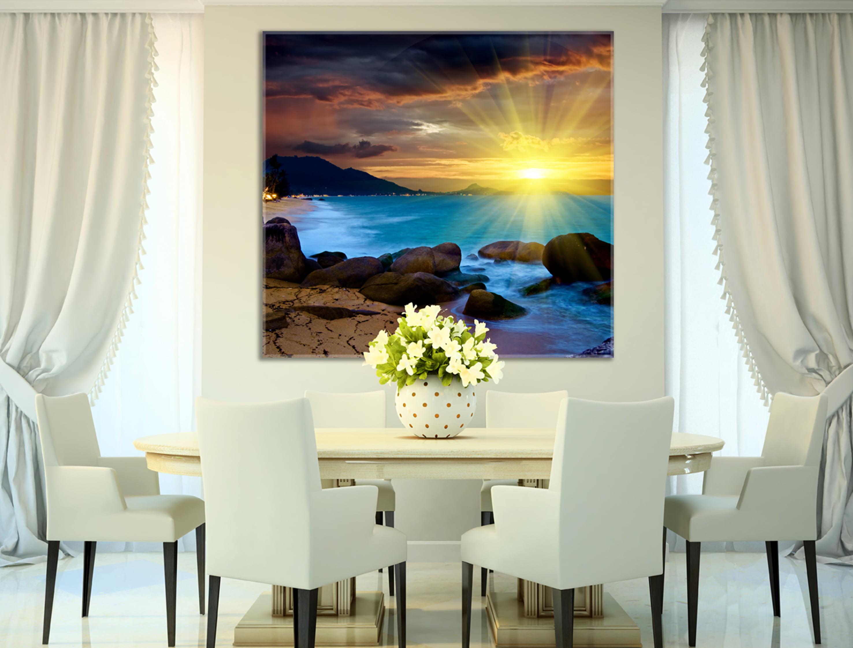 הדפסות על זכוכית לעיצוב הבית | חיוכים - הדפסות קנבס ומגנטים לאירועים