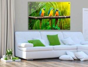 הדפסות על זכוכית לעיצוב הסלון | חיוכים - הדפסות קנבס ומגנטים לאירועים