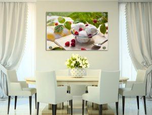הדפסות על זכוכית לעיצוב חדר האוכל | חיוכים - הדפסות קנבס ומגנטים לאירועים