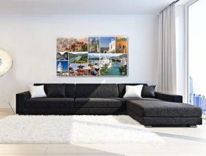 קולאז תמונות צילום מקורי, הדפסה לתמונת קיר לסלון - חיוכים