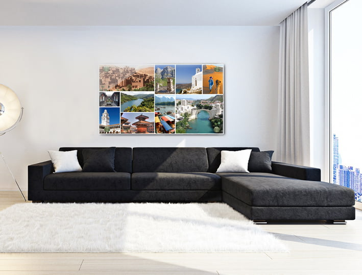 קולאז תמונות צילום מקורי, הדפסה לתמונת קיר לסלון - חיוכים - הדפסות קנבס ומגנטים לאירועים